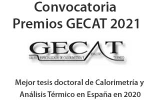 Convocatoria premios doctorado GECAT 2021